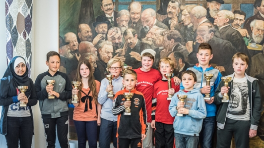 Pokalvinnare schack56an i Stockholm 2015